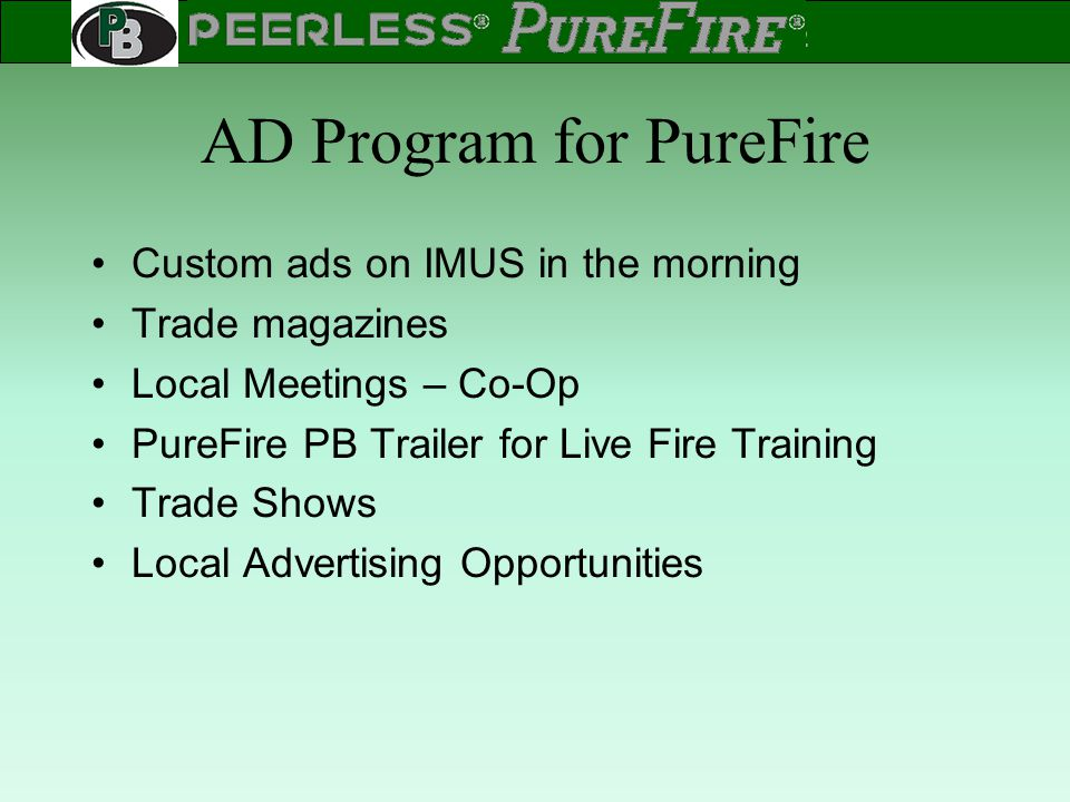 AD Program for PureFire