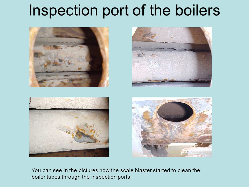 Inspection port of the boilers