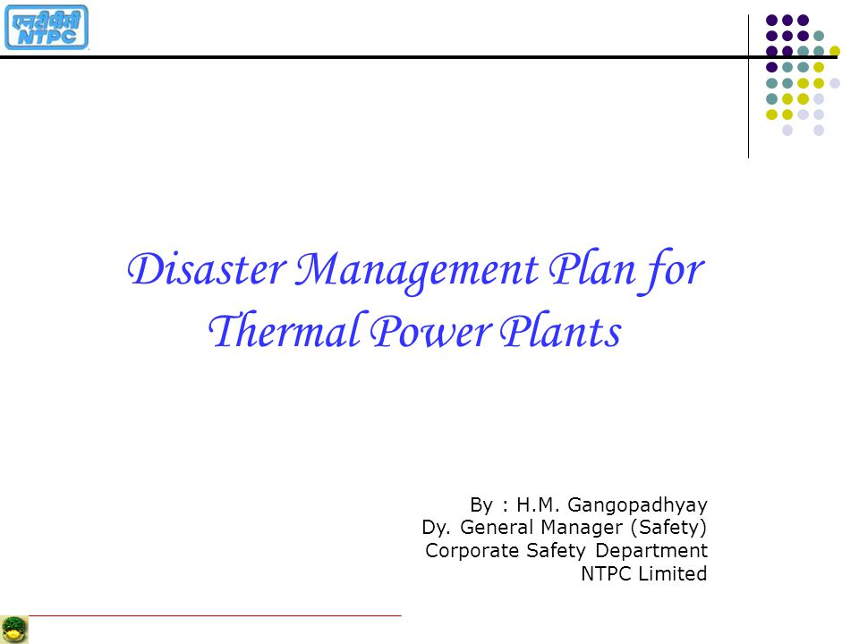 Disaster Management Plan for