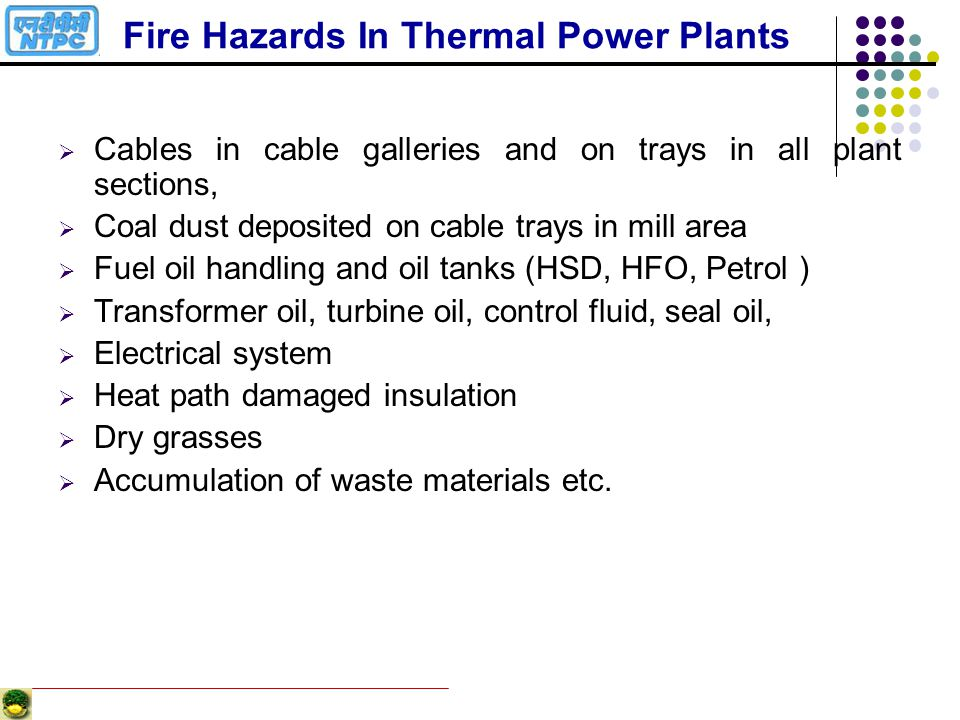 Fire Hazards In Thermal Power Plants