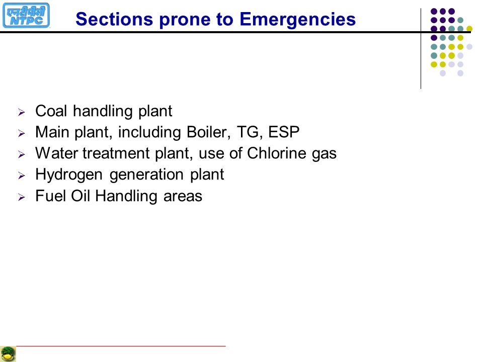 Sections prone to Emergencies