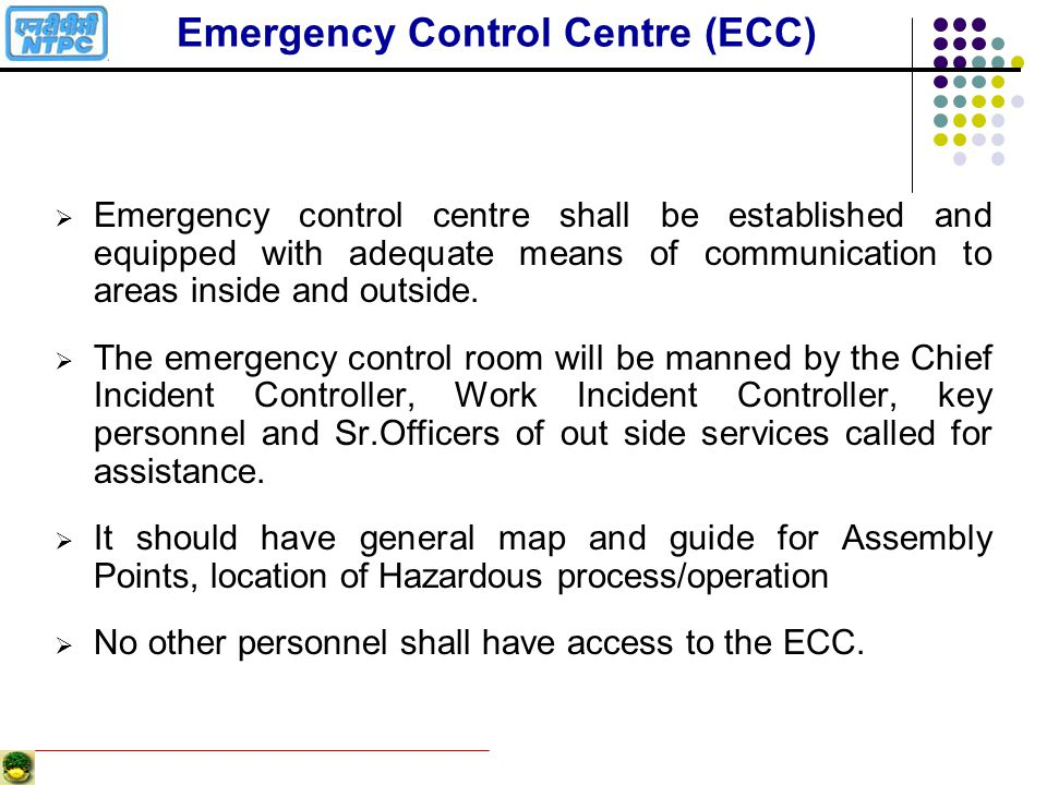 Emergency Control Centre (ECC)