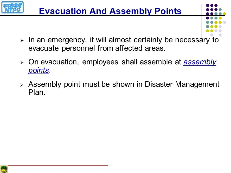 Evacuation And Assembly Points