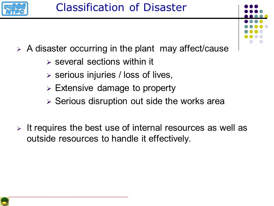 Classification of Disaster
