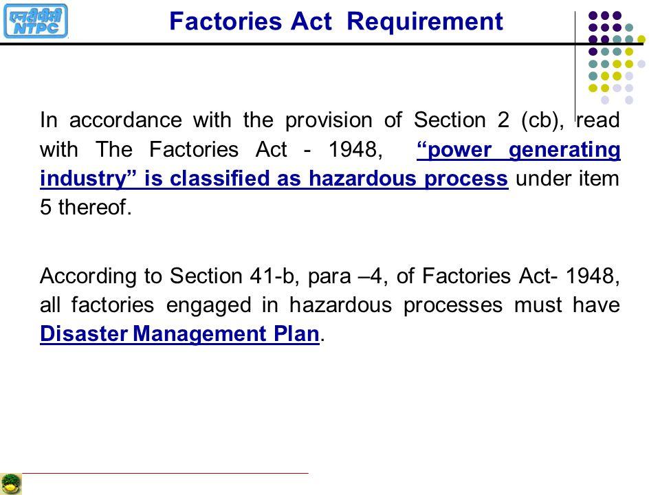 Factories Act Requirement