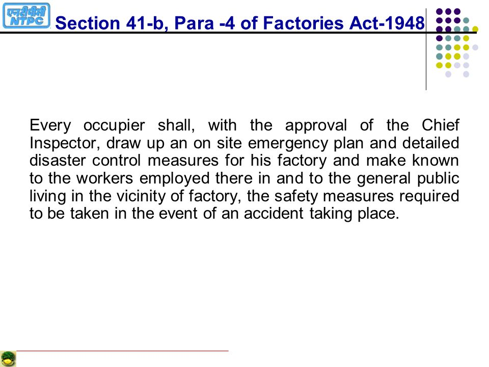Section 41-b, Para -4 of Factories Act-1948