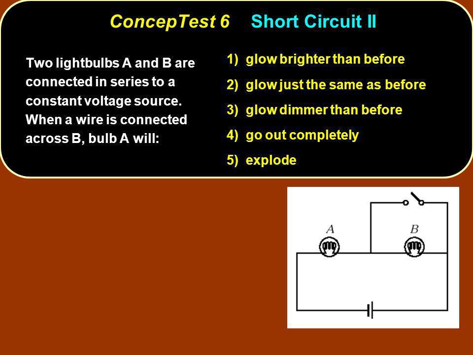 ConcepTest 6 Short Circuit II