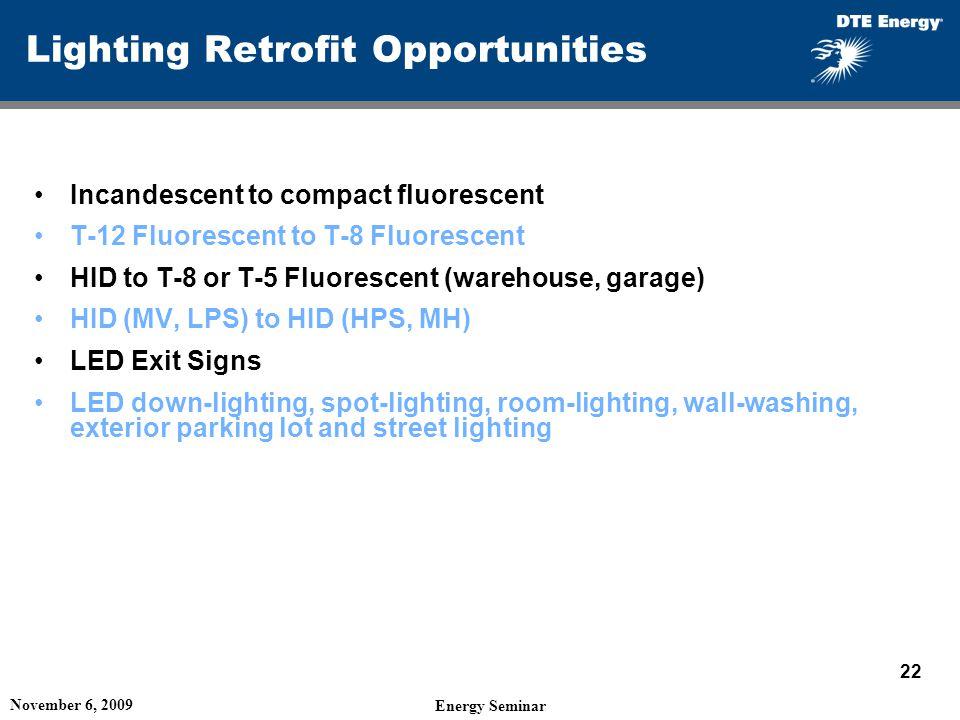 Lighting Retrofit Opportunities