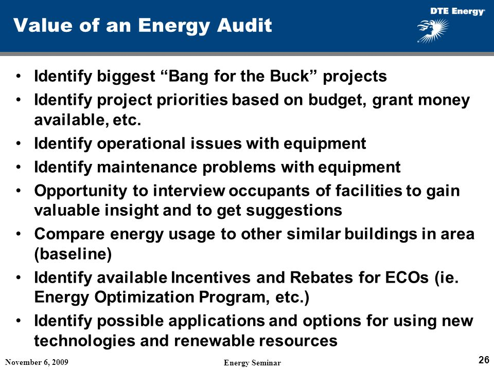 Value of an Energy Audit