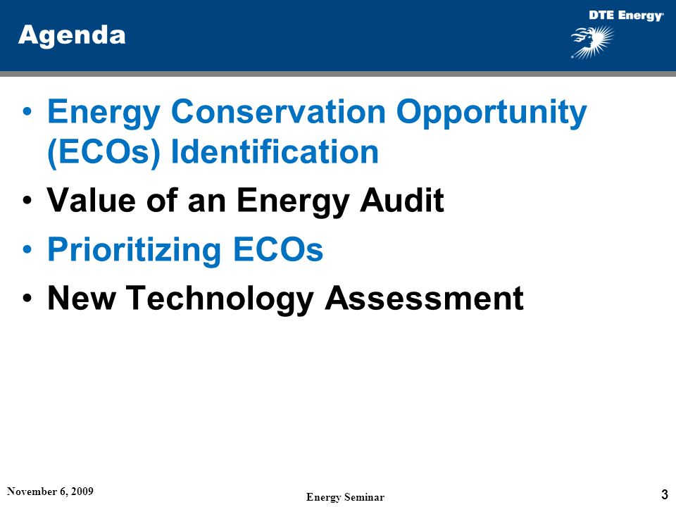 Energy Conservation Opportunity (ECOs) Identification