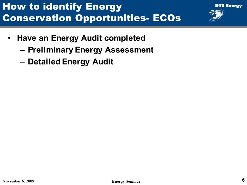 How to identify Energy Conservation Opportunities- ECOs
