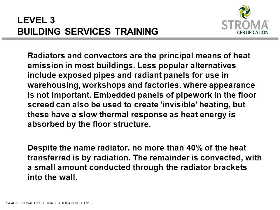LEVEL 3 BUILDING SERVICES TRAINING