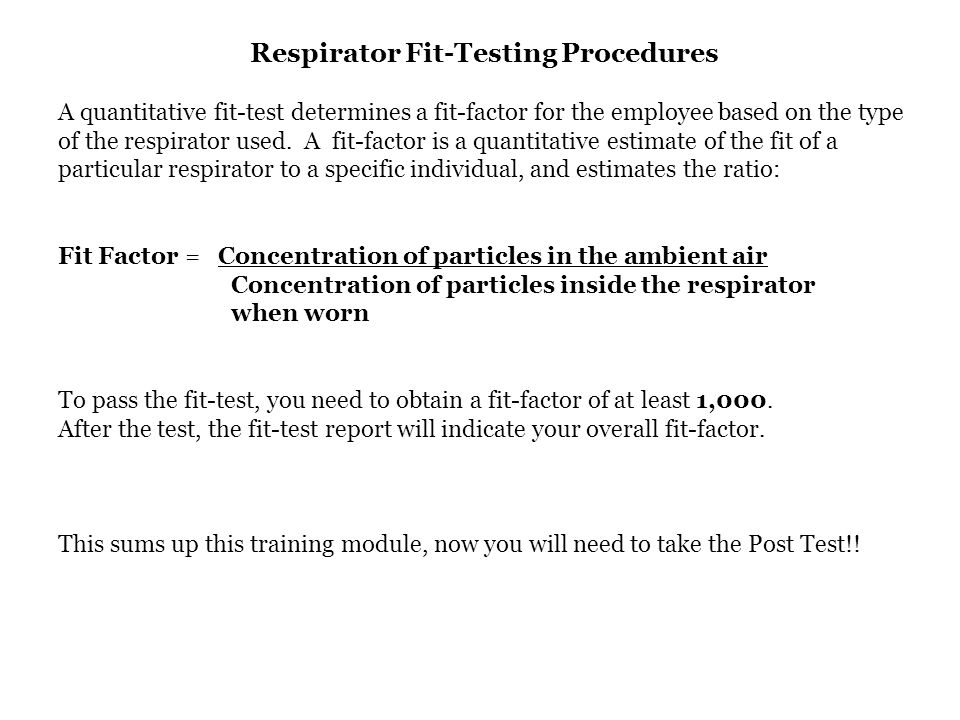 Respirator Fit-Testing Procedures