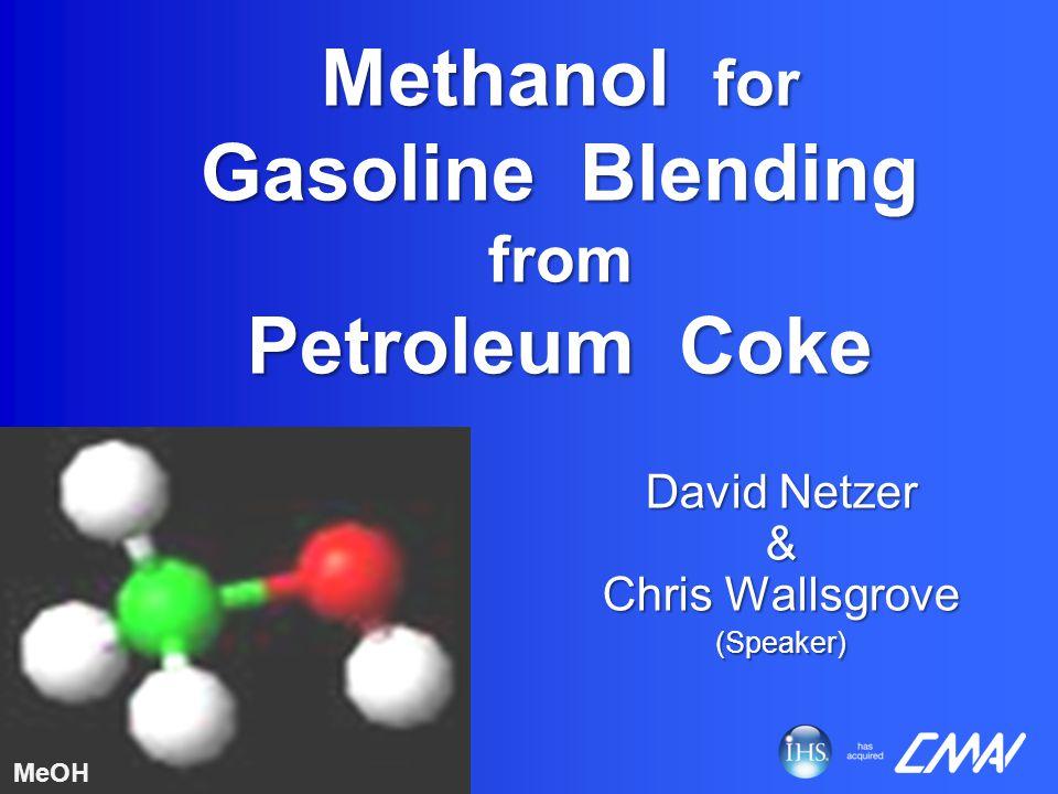 Methanol for Gasoline Blending from Petroleum Coke