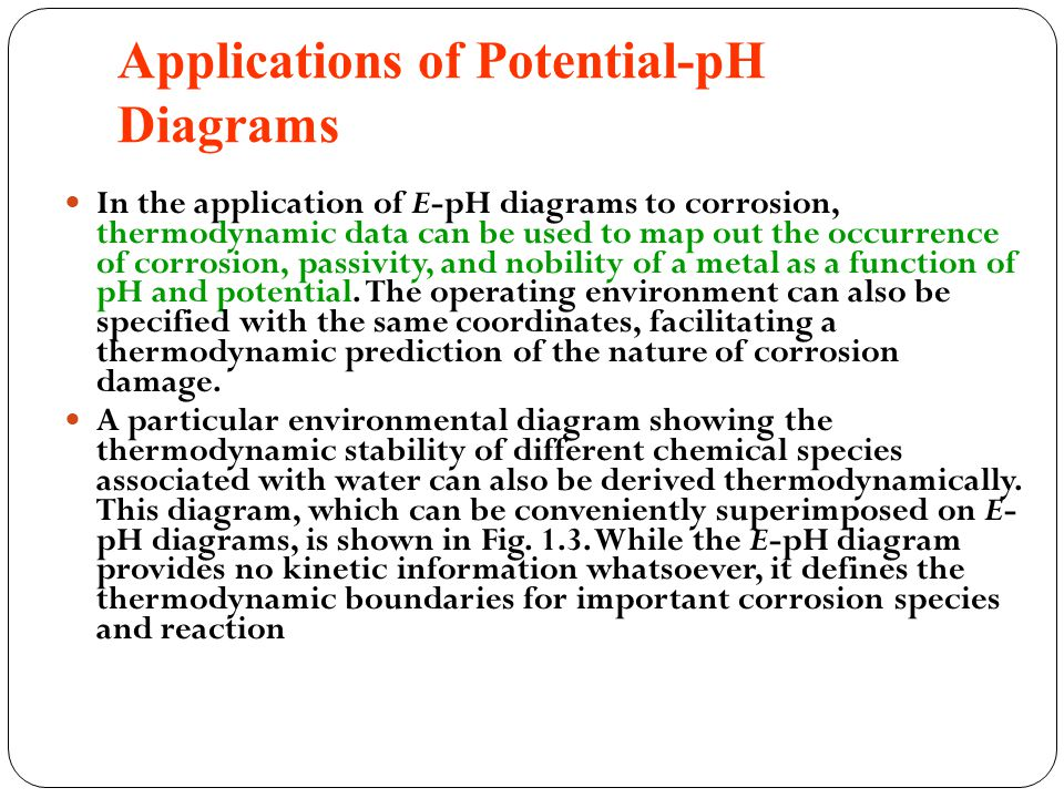 Applications of Potential-pH Diagrams