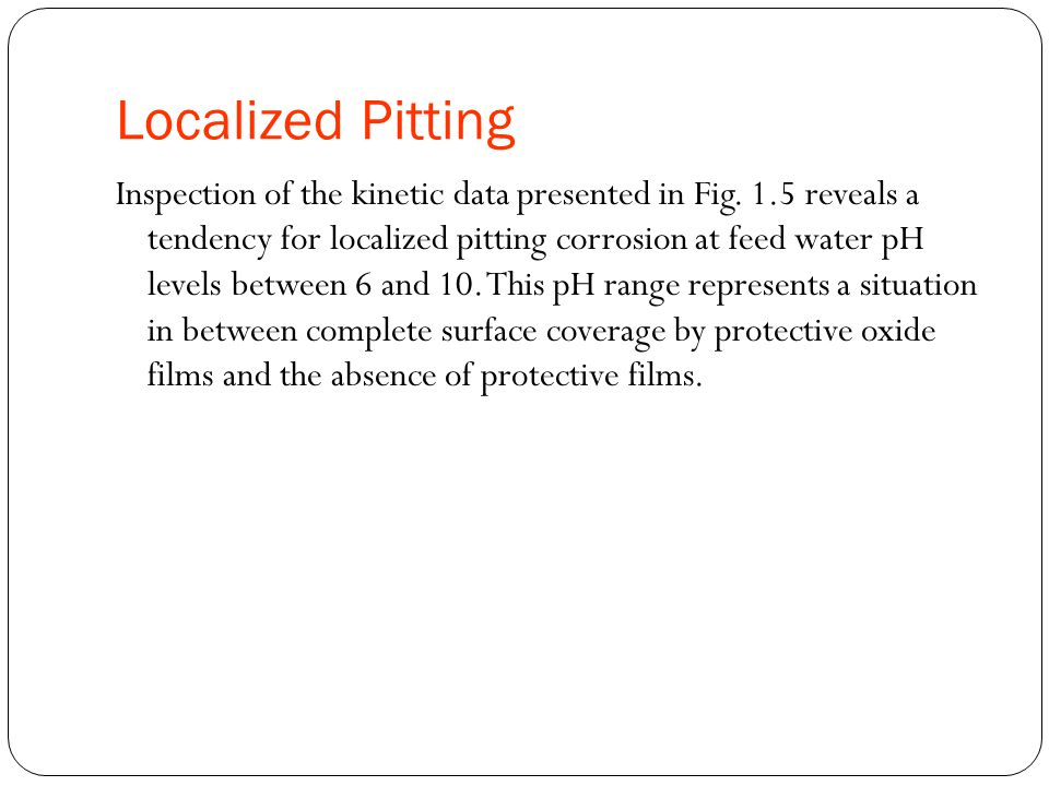 Localized Pitting