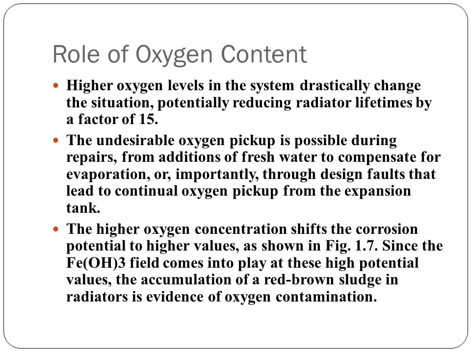 Role of Oxygen Content