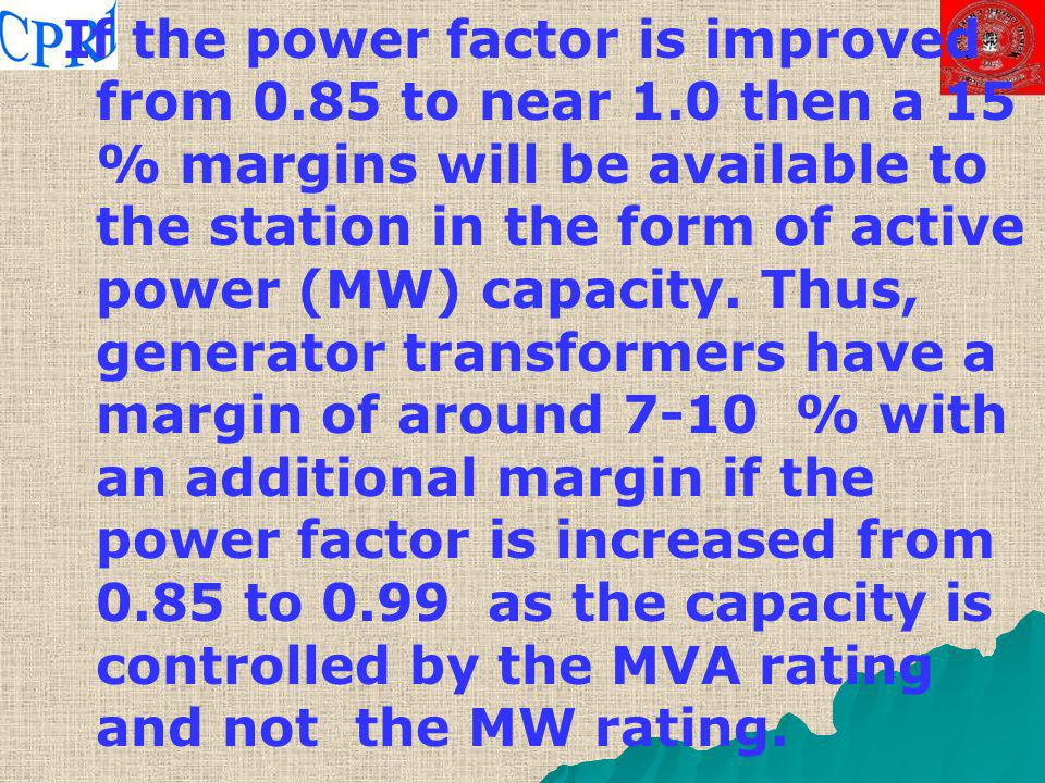 If the power factor is improved from 0. 85 to near 1