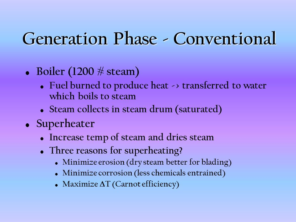 Generation Phase - Conventional