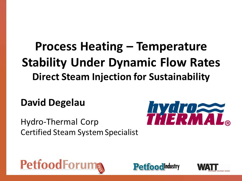 Process Heating – Temperature Stability Under Dynamic Flow Rates Direct Steam Injection for Sustainability