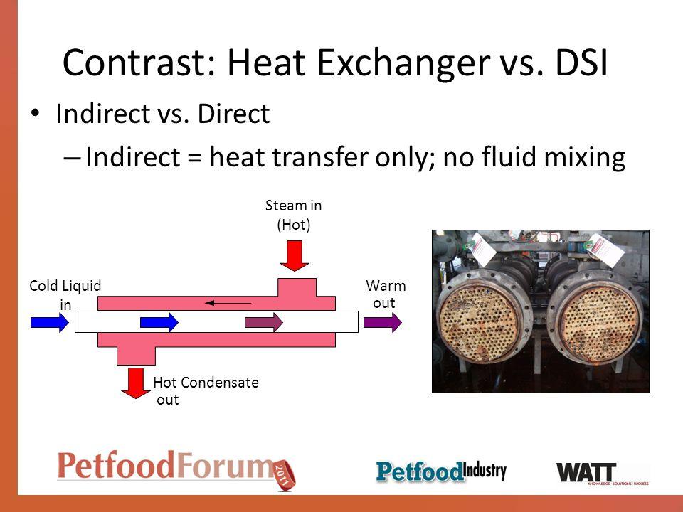 Contrast: Heat Exchanger vs. DSI