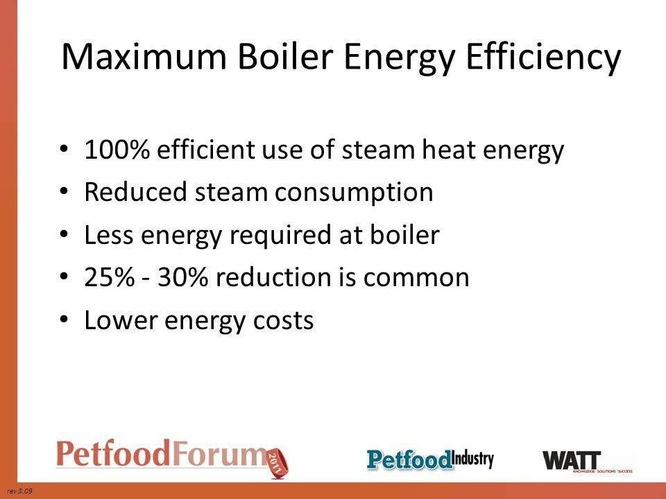 Maximum Boiler Energy Efficiency
