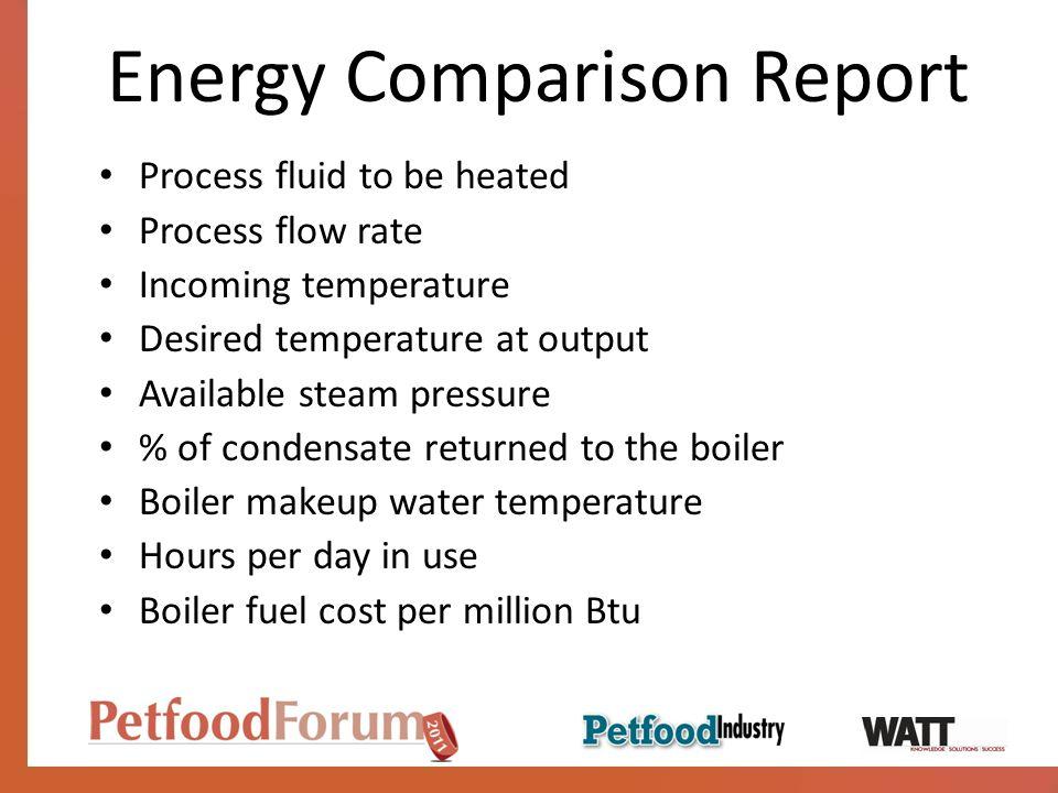 Energy Comparison Report