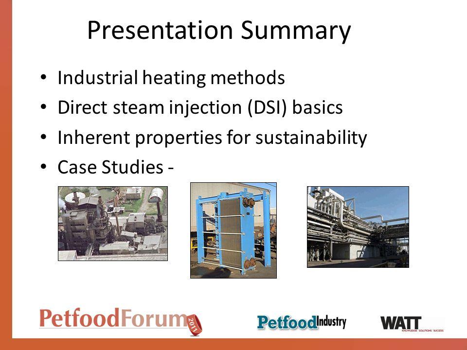 Presentation Summary Industrial heating methods