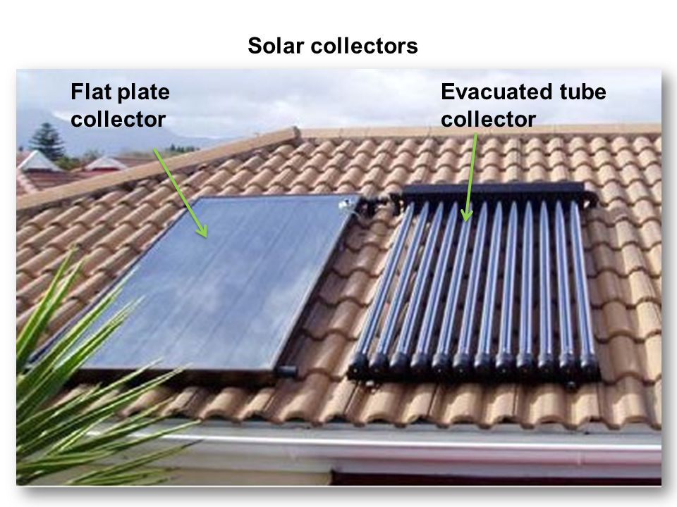 Solar collectors Flat plate collector Evacuated tube collector