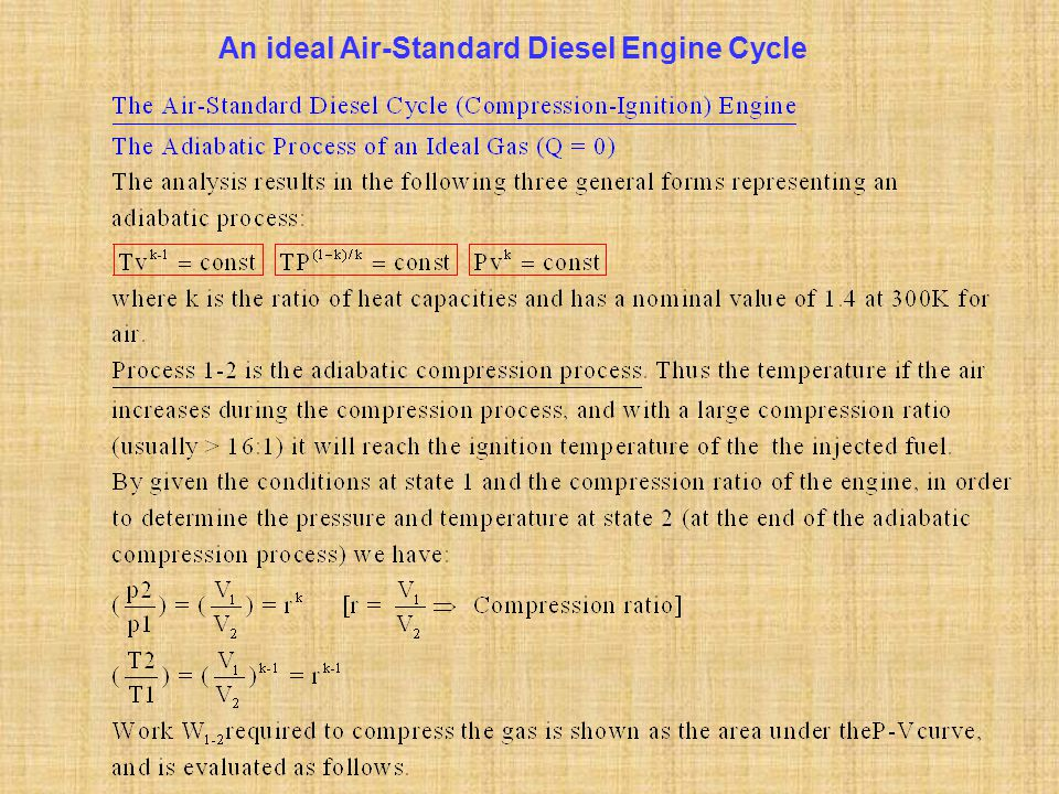 An ideal Air-Standard Diesel Engine Cycle