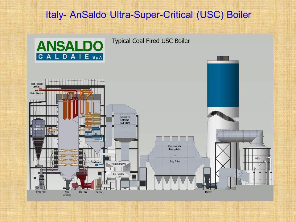 Italy- AnSaldo Ultra-Super-Critical (USC) Boiler