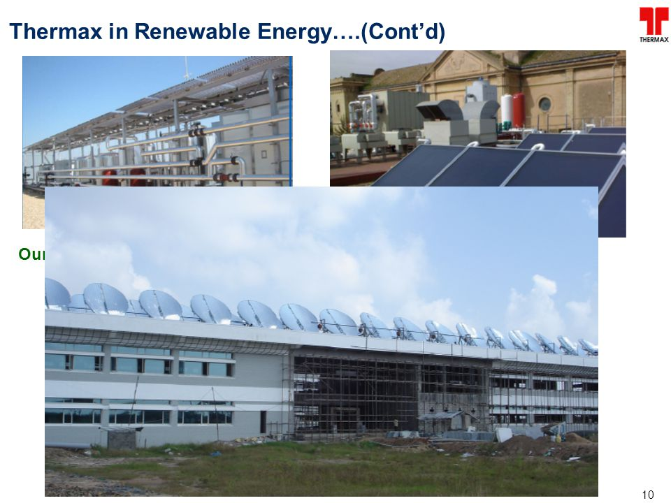 Thermax in Renewable Energy….(Cont'd)