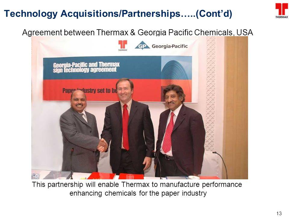 Technology Acquisitions/Partnerships…..(Cont'd)