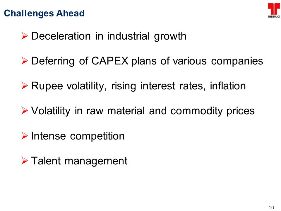 Deceleration in industrial growth