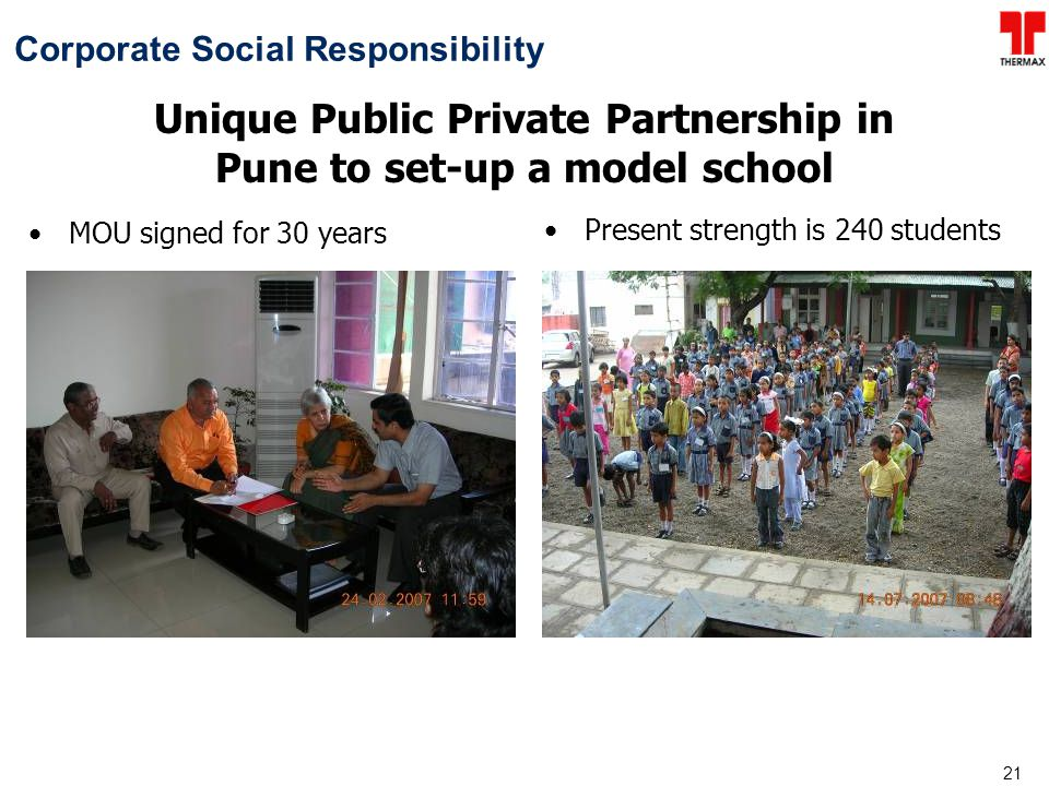Unique Public Private Partnership in Pune to set-up a model school