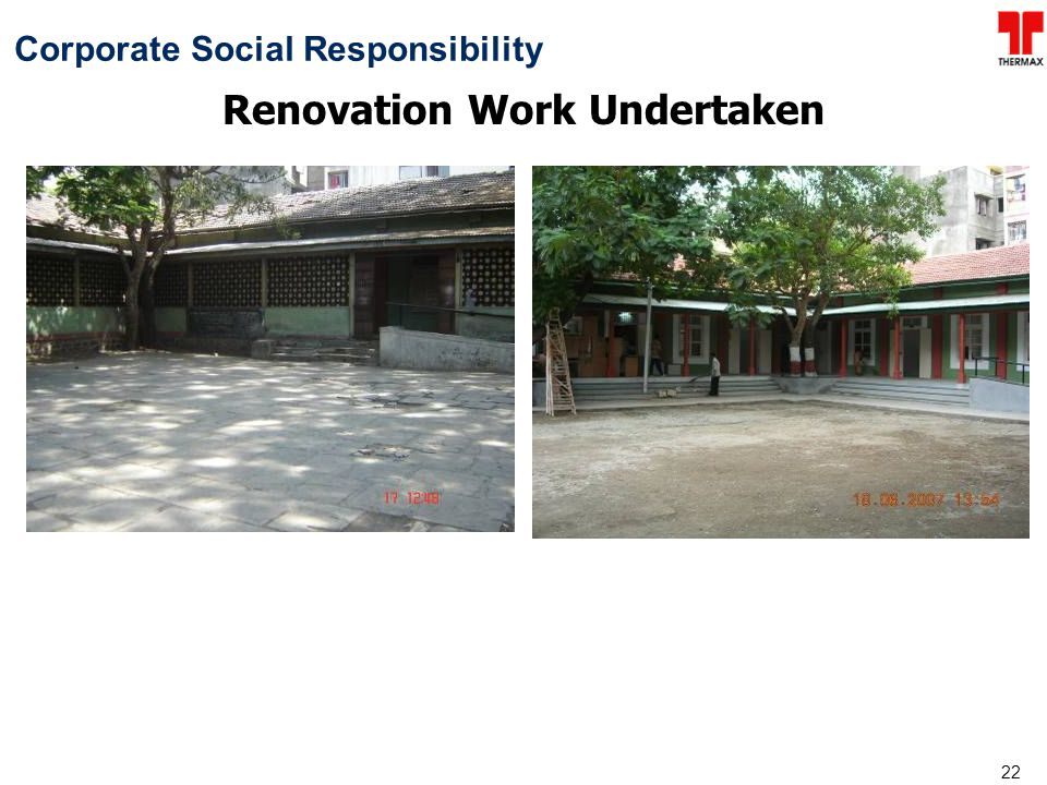 Renovation Work Undertaken