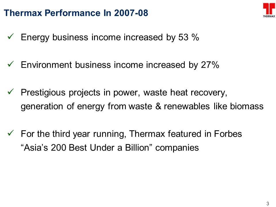 Thermax Performance In 2007-08