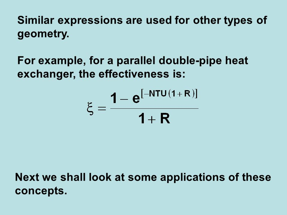 Similar expressions are used for other types of geometry.