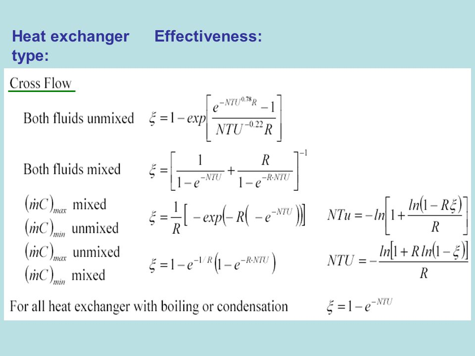 Heat exchanger Effectiveness: