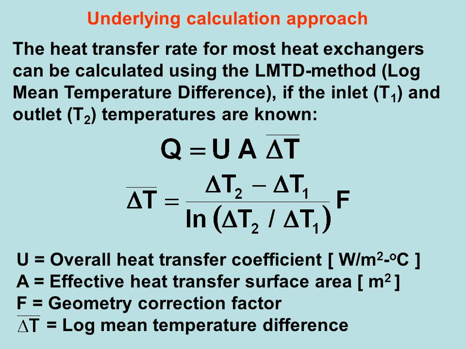 Underlying calculation approach