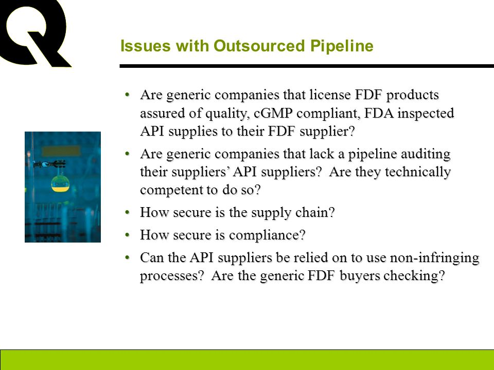 Issues with Outsourced Pipeline