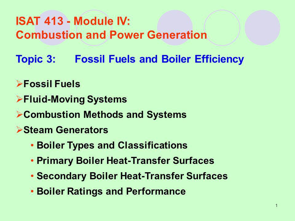 Combustion and Power Generation