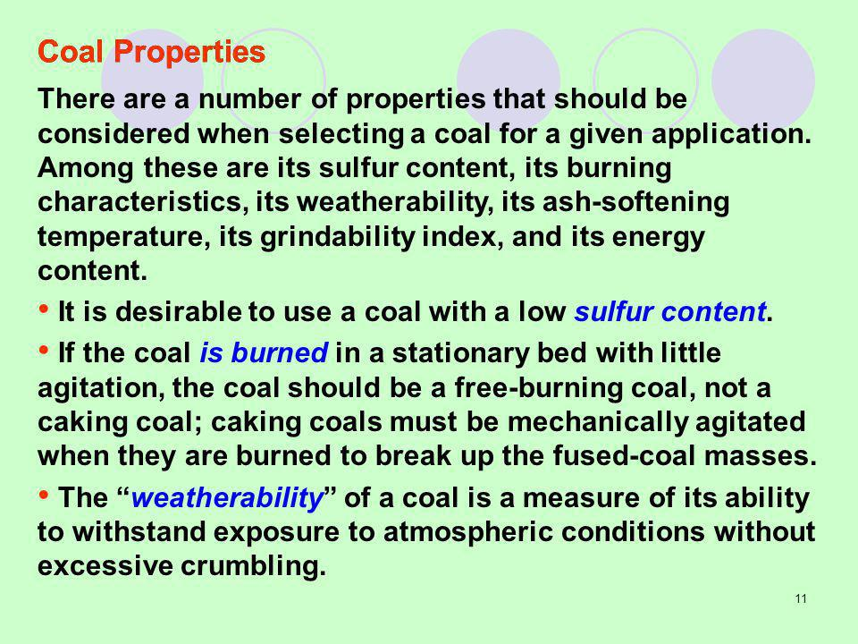 Coal Properties