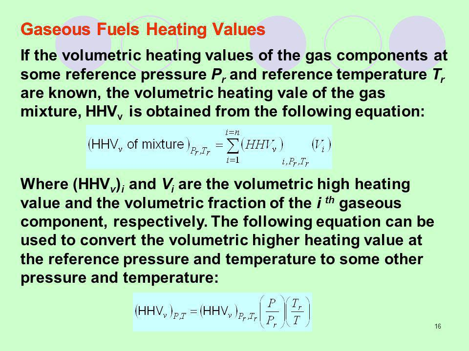 Heating Values Of Natural Gas Components
