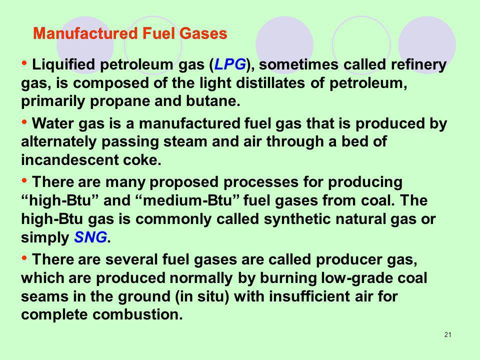 Manufactured Fuel Gases