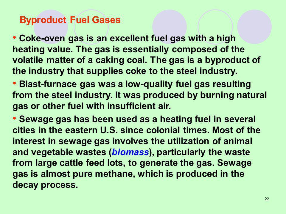 Byproduct Fuel Gases