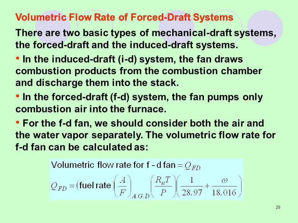 Volumetric Flow Rate of Forced-Draft Systems