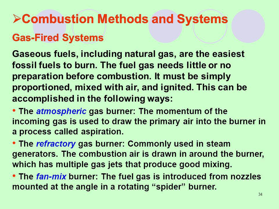 Combustion Methods and Systems