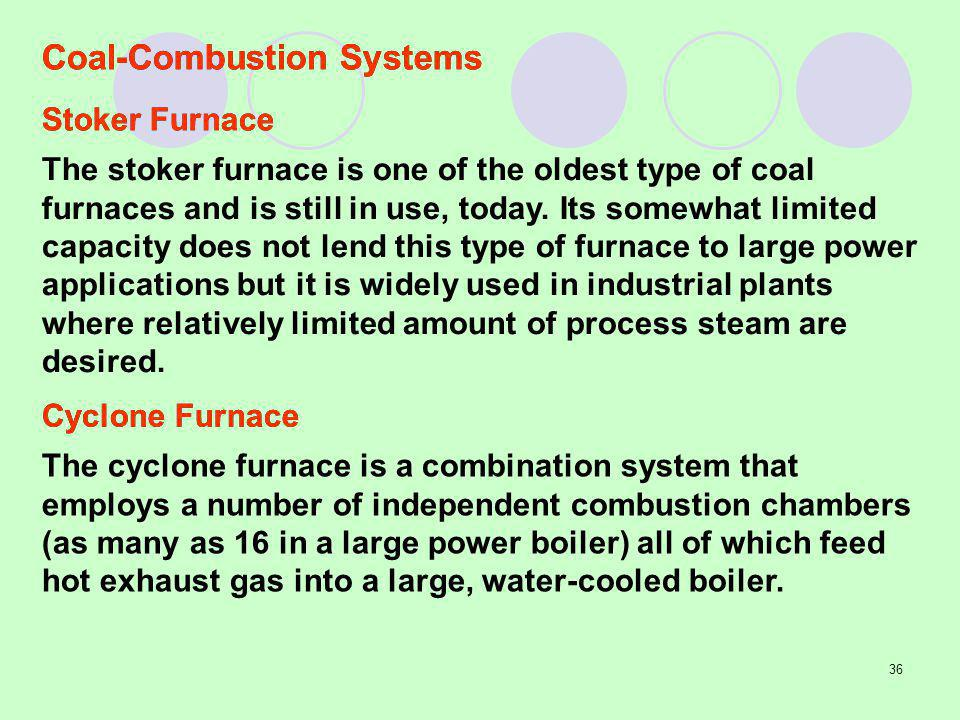 Coal-Combustion Systems