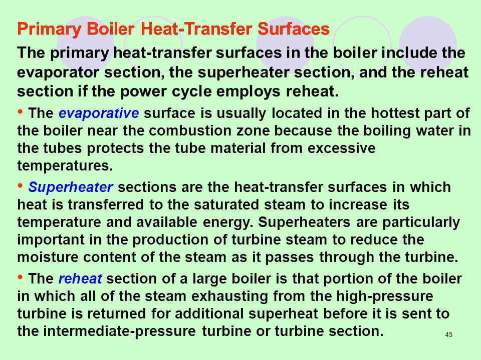 Primary Boiler Heat-Transfer Surfaces